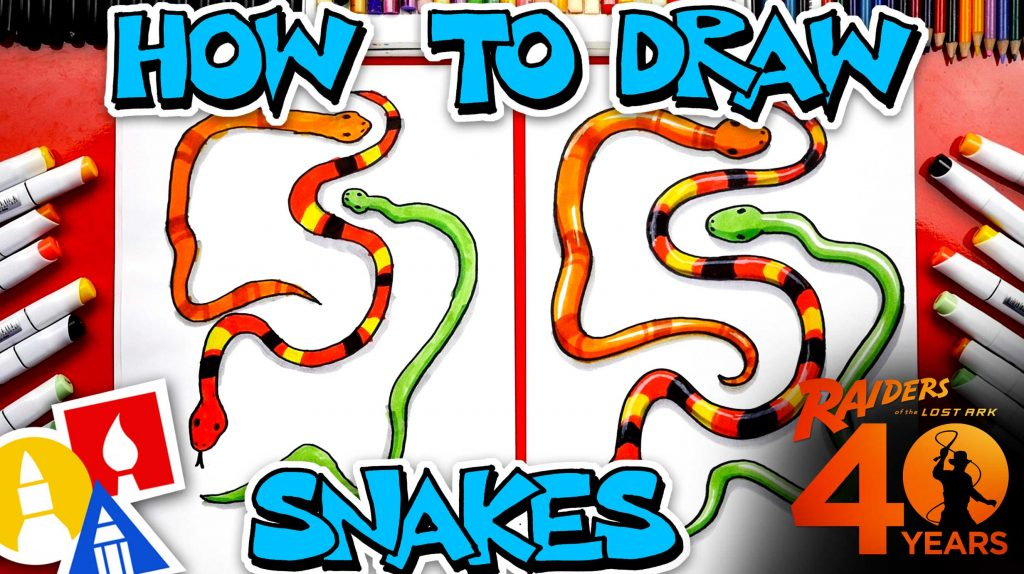 How To Draw Snakes Indiana Jones 40th Anniversary