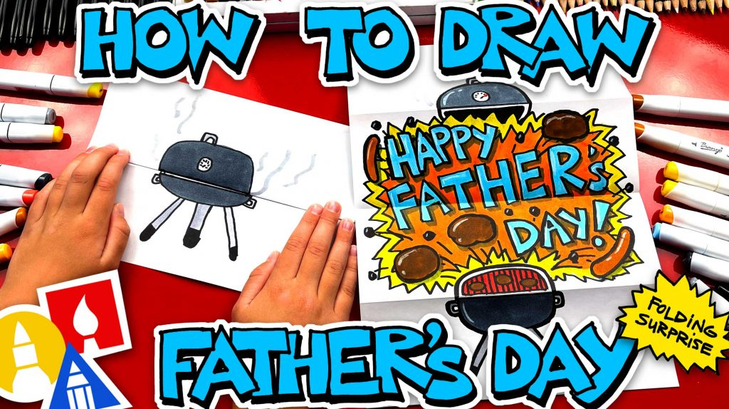 How To Draw A Father's Day BBQ – Folding Surprise