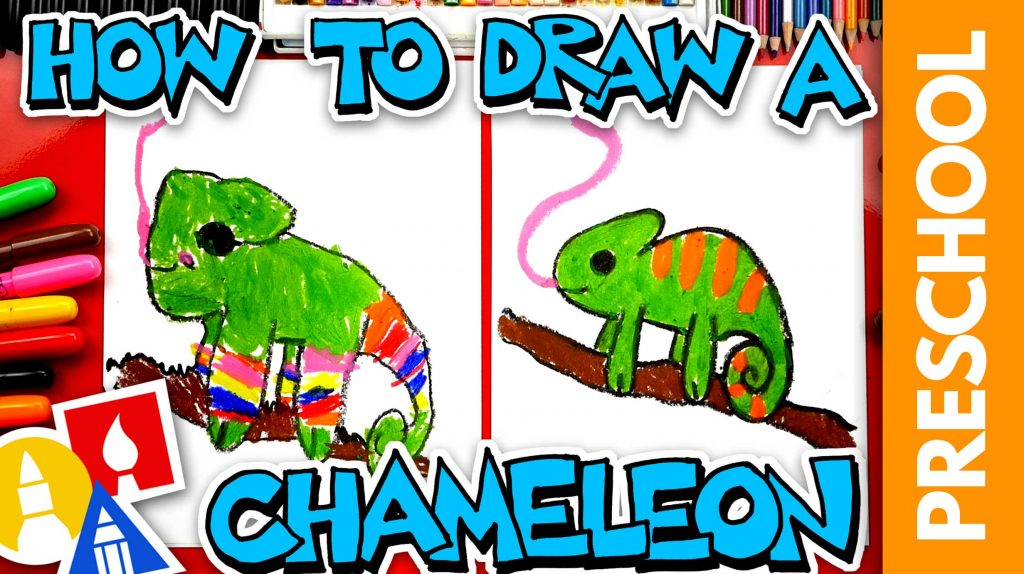How To Draw A Chameleon – Preschool