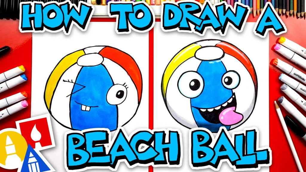 How To Draw A Funny Beach Ball