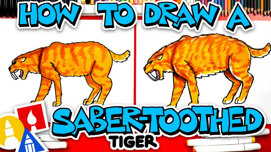 How To Draw A Saber-Toothed Tiger (Smilodon)