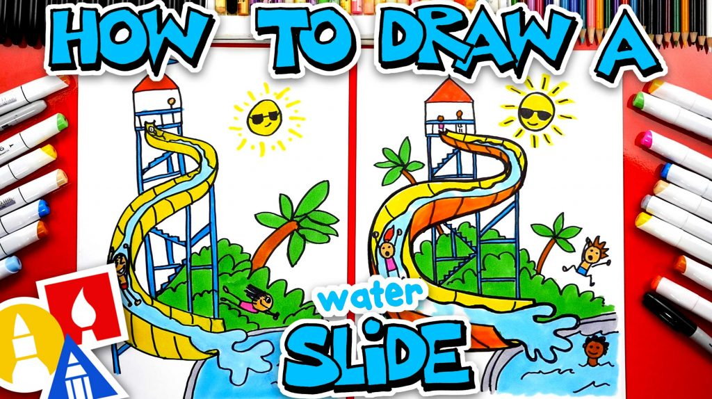 How To Draw A Waterslide