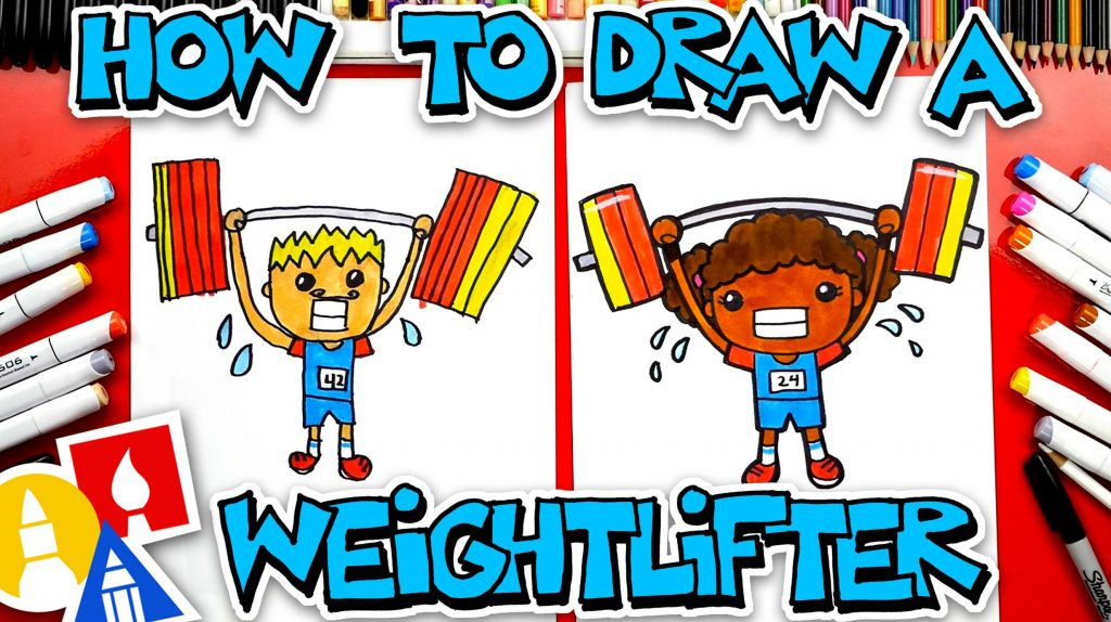 How To Draw A Weightlifter