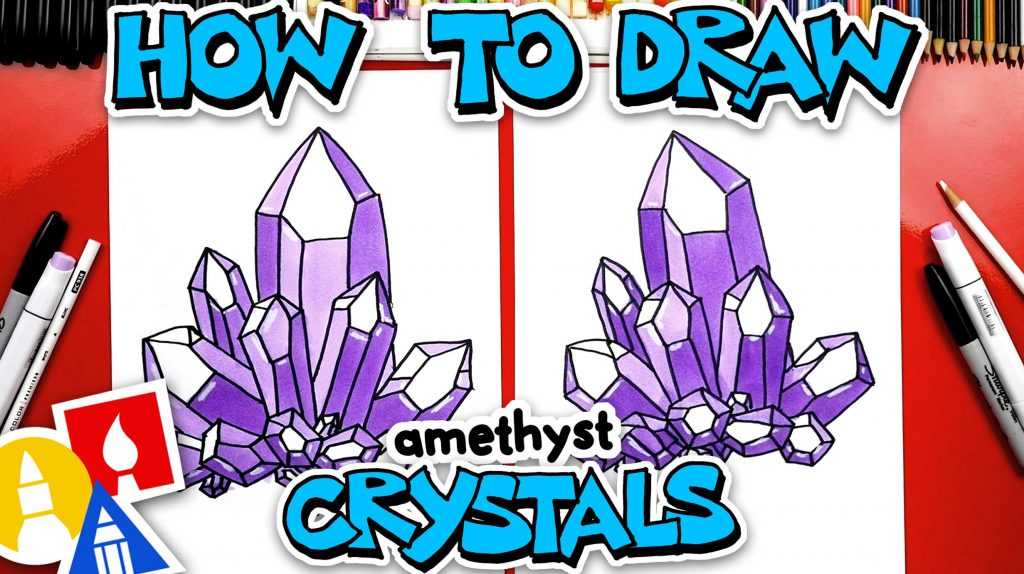 How To Draw Amethyst Crystals