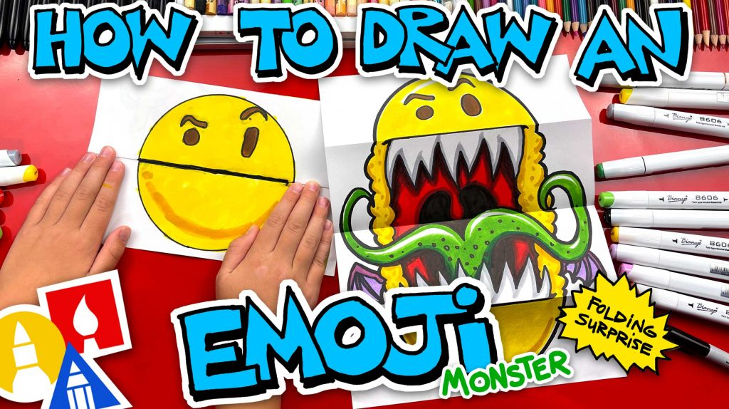 How To Draw An Emoji Monster – Folding Surprise