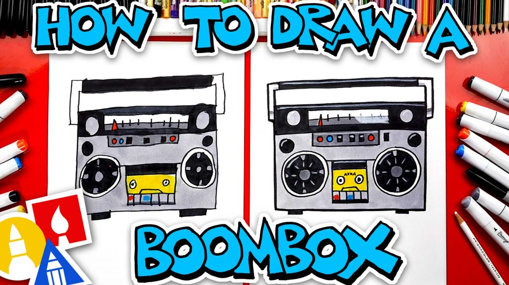 How To Draw A Boombox