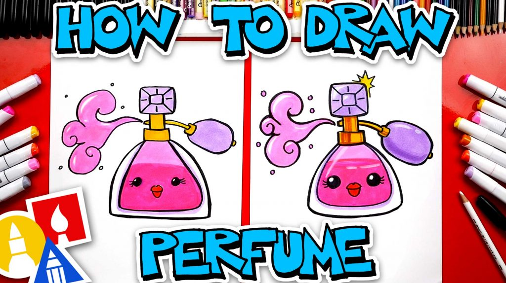 How To Draw A Cute Cartoon Bottle Of Perfume