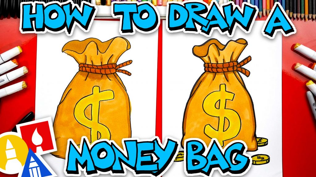 How To Draw An Old Fashion Money Bag