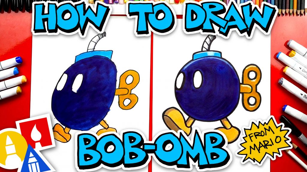 How To Draw Bob-omb From Mario