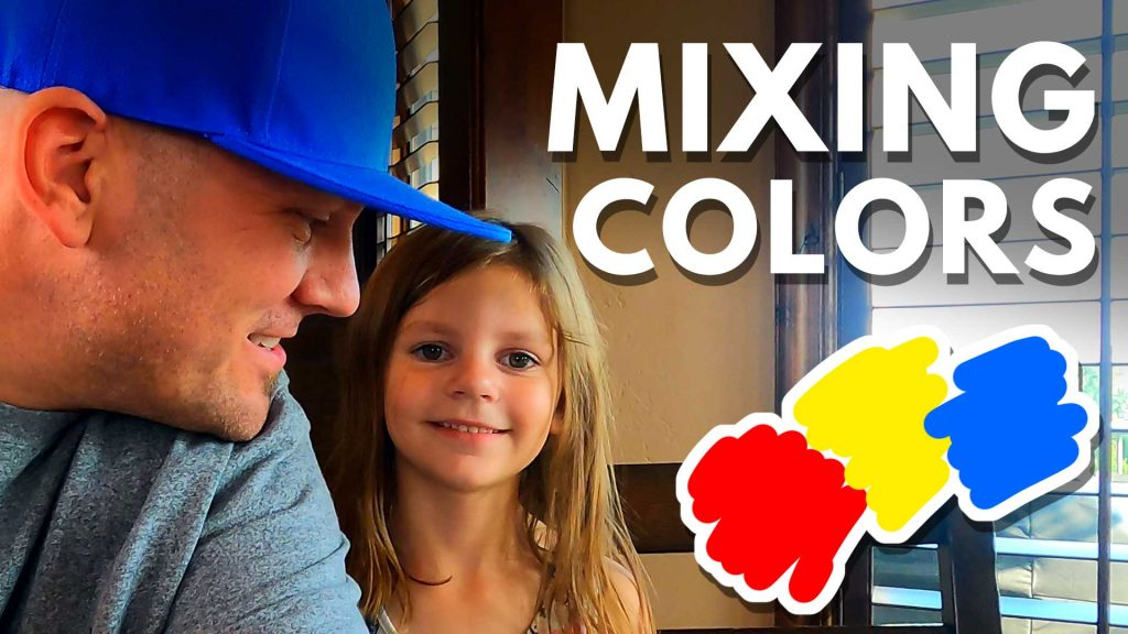 PLAY DAY – Mixing Sand To Make Different Colors (Color Wheel)