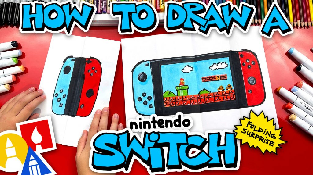 How To Draw A Nintendo Switch Folding Surprise