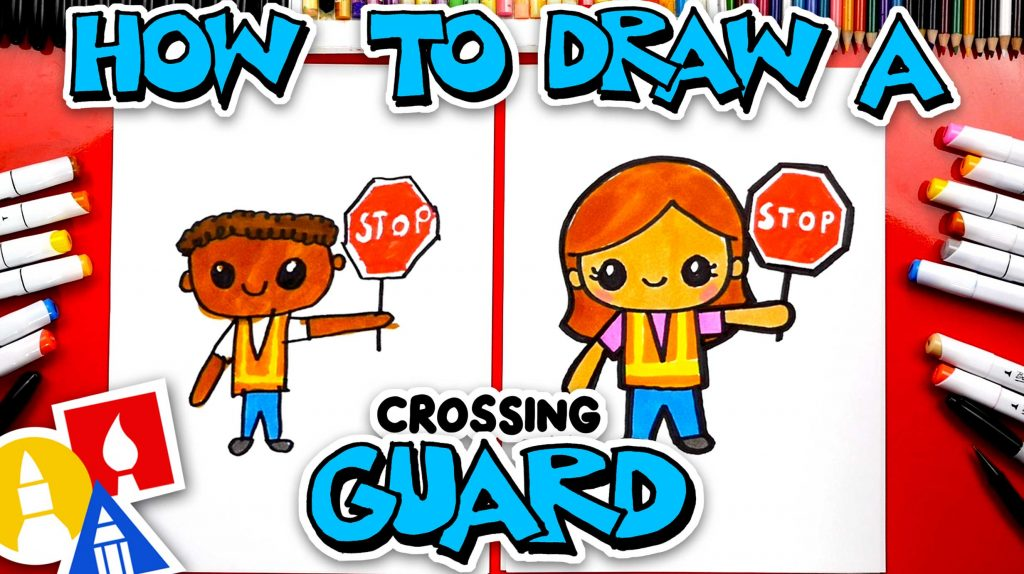 How To Draw A Crossing Guard