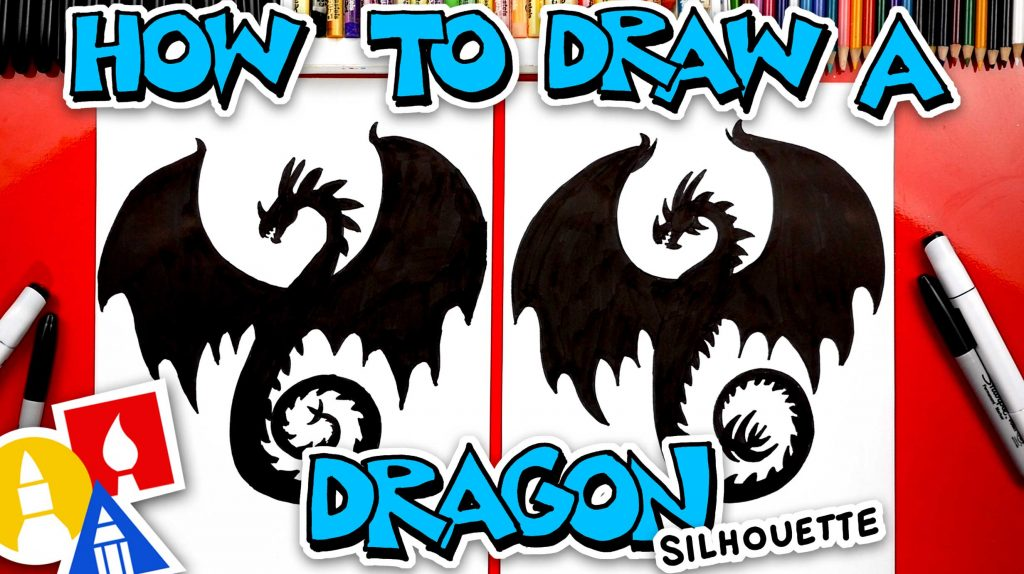 How To Draw A Dragon Silhouette