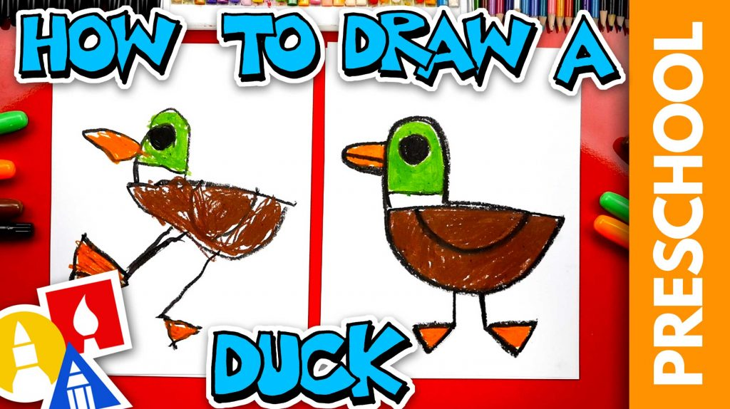 How To Draw A Duck – Preschool