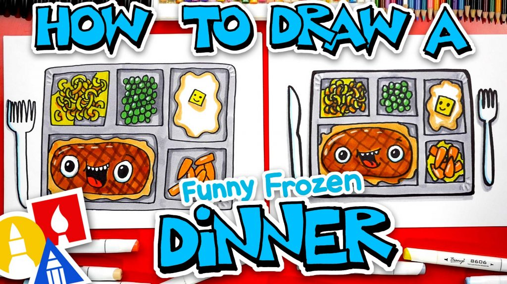 How To Draw Funny Frozen Dinner