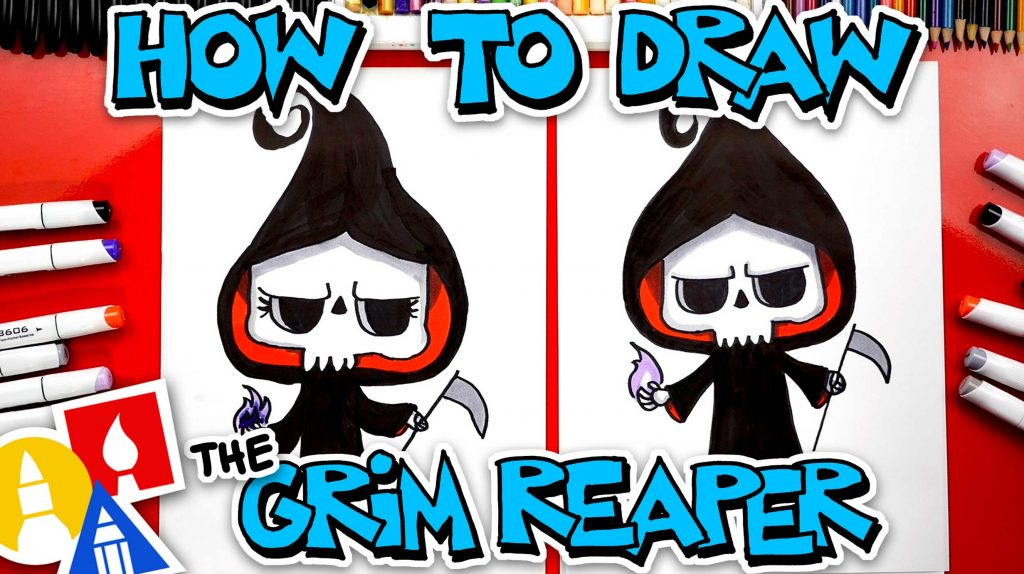 How To Draw The Grim Reaper Cute Cartoon