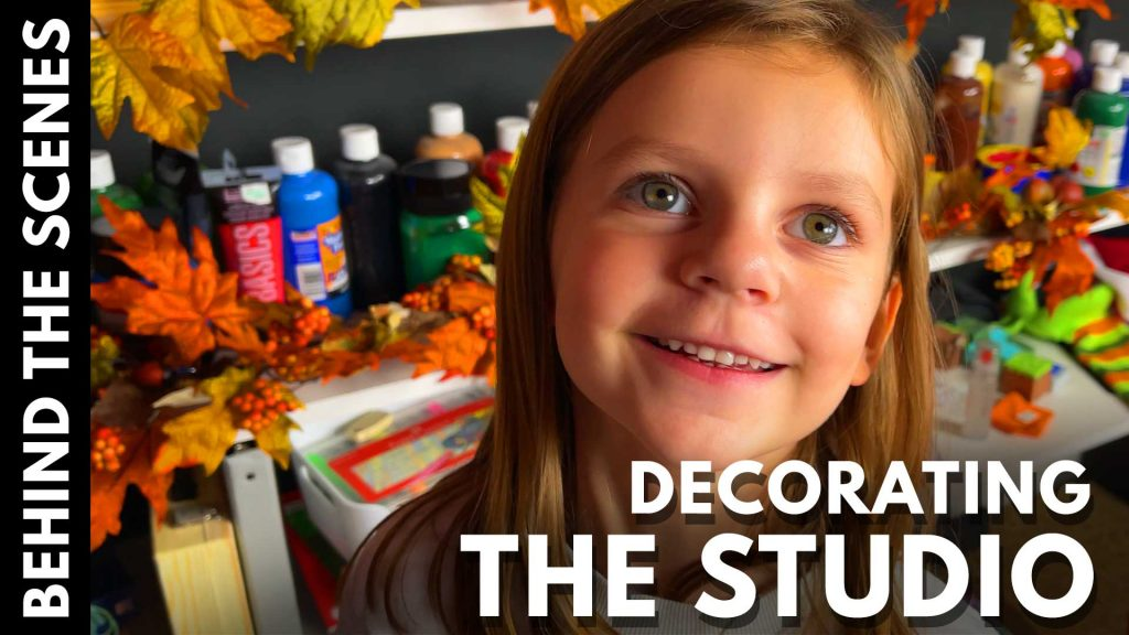 Behind The Scenes – Decorating The Studio With Olivia