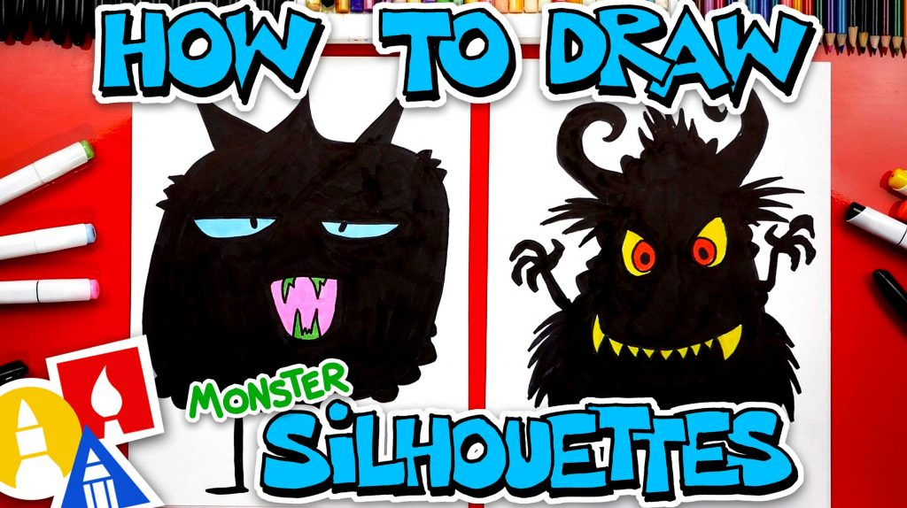 How To Draw Funny Monster Silhouettes