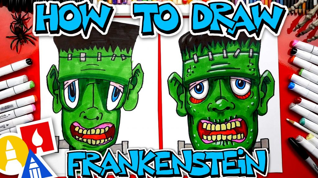 How To Draw Funny Frankenstein Head