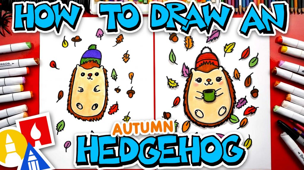 How To Draw An Autumn Hedgehog