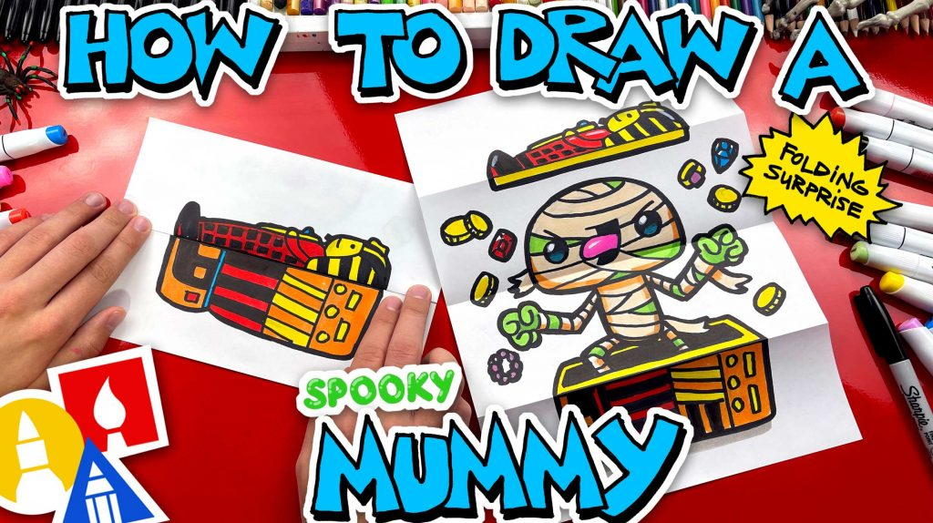 How To Draw A Mummy Folding Surprise