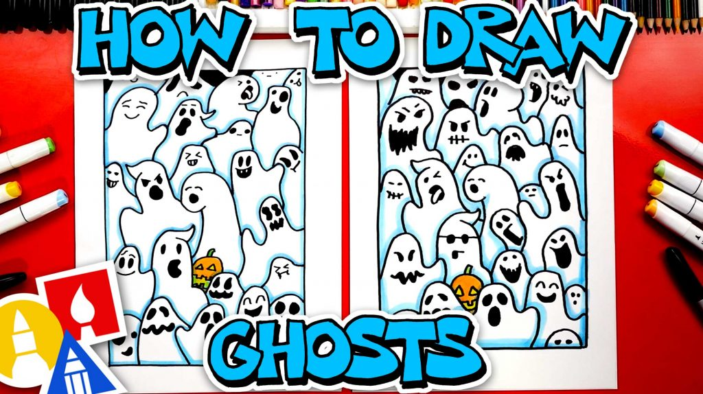 How To Draw Funny Ghosts – (Overlapping Activity)